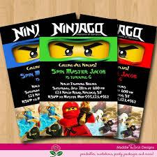 57 lego ninjago invitations the isoms ninjago birthday party