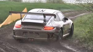 porsche rally car jump ruben zeltner porsche 911 gt3 rs deutscher rallyemeister 2014
