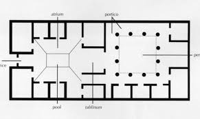 roman floor plan plan typical roman house home plans blueprints 44849