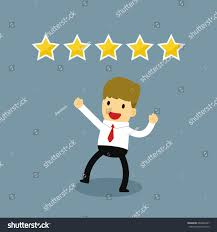 happy businessman five rating vector stock vector 649840237
