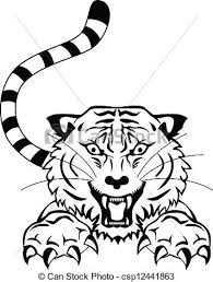 angry tigger tattoo vector illustration of angry tigger clip