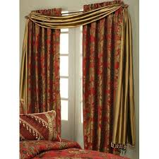 Red Scarf Valance Shop Valance Gold On Wanelo