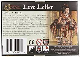 amazon com love letter legend of the five rings toys u0026 games