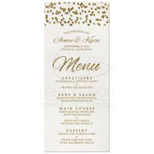 wedding menu cards wedding menu glamorous glitter look confetti dots