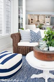best 25 nautical living rooms ideas on pinterest nautical lovely lake house sunroom decorated in blue and white via lily pad cottage find this pin and more on interior design