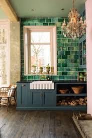 Green And Copper Kitchen Tile Backsplashes Pinterest Copper - Green kitchen tile backsplash