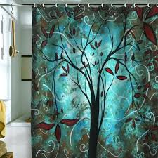 Turquoise Shower Curtains Teal Shower Curtains Teawing Co