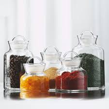 storage jars in glass for a healthier organized kitchen food storage