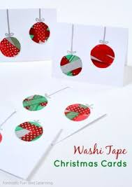 easy kid made christmas cards christmas cards washi tape and washi