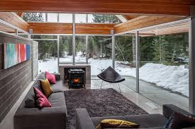 home with engineered glulam structure as main design feature