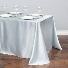 90 x 156 table x 156 in rectangular satin tablecloth silver