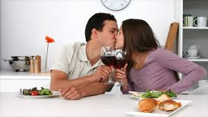 couples amour cuisine savouring meal hd stock 569 300 978 framepool
