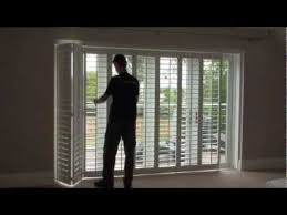 Plantation Shutters On Sliding Patio Doors Sliding Doors Bi Fold Plantation Shutters For Glass Afterpartyclub