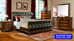 Oak Sleigh Bed Beds Sets Palmer Brown Oak Sleigh Bed Dresser Mirror Set