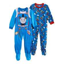 boy thomas the tank engine fleece one piece footed pajama set