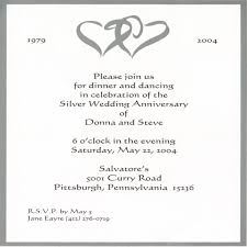 beautiful silver jubilee wedding anniversary invitation cards