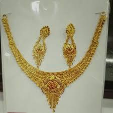 necklace set gold design images Manufacturer of 22k 916 gold designer necklace set jewelxy 39555 jpg