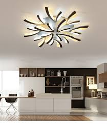 led dining room lighting neo gleam acrylic thick modern led ceiling chandelier lights for