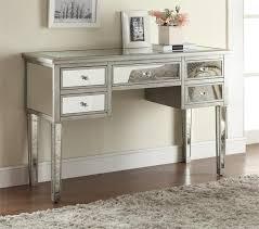 Mirrored Furniture For Bedroom by Lex Metallic Platinum Dressing Makeup Table Vanities Mirror