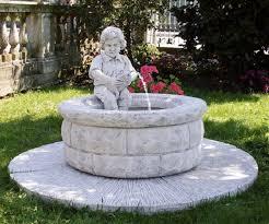 fontane per giardini fontana da giardino in cemento bianco e graniglia cm 140x85h con