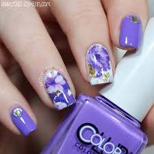 nailsbyerin purple floral water decal nails born pretty store