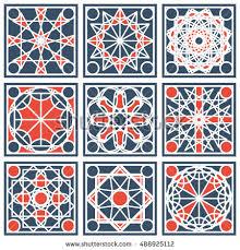 patterns set arabic geometric ornaments vector stock vector