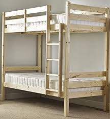 Short Bunk Bed Ft  X Ft  Single Solid Pine Bunk Bed Ladder - Heavy duty bunk beds