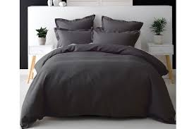 charcoal bedding nova waffle charcoal duvet cover set by savona harvey norman new