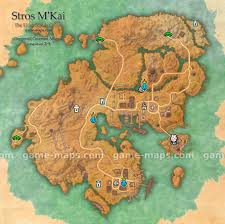 Deshaan Treasure Map Stros M U0027kai Map The Elder Scrolls Online Game Maps Com