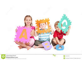 children learning fun kids alphabet abc letters stock image
