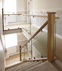 Oak Banister Contemporary Oak U0026 Glass Steel U0026 Glass Staircases Bespoke