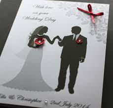 large a5 handmade personalised bride u0026amp groom congratulations