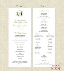 simple wedding program printable diy wedding programs simple but by littlemagiccards