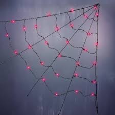 halloween 3 u0027 ul corner spider web lights purple 3 u0027 walmart com