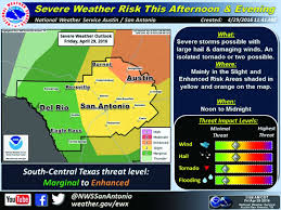 Weather Channel Radar San Antonio Texas San Antonio Area Could See Large Hail Up To 4 Inches Of Rain In