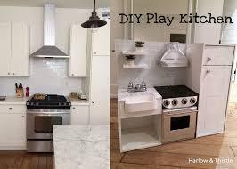 harlow u0026 thistle diy play kitchen toy kitchen with farmhouse
