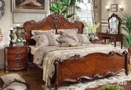 100 hand carve oak wood furniture american style bedroom