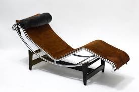 Armchair And Chaise Lounge Le Corbusier Lc4 Chaise Lounge Chair In Cowhide For Sale At 1stdibs