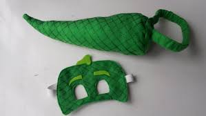 gekko mask and tail set reptile costume hand painted costume