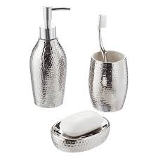 Bathroom Canisters Pebble Ceramic Countertop Bathroom Set The Container Store