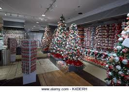 tree decorations at macy s department store in the