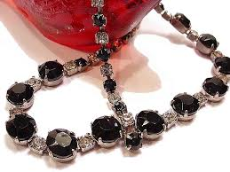 black rhinestone necklace images Affordable vintage jewelry of multiple styles and eras vintage jpg