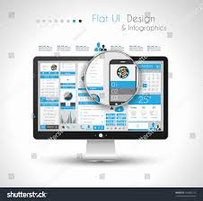 e unlimited home design infographic design template modern flat style stock illustration