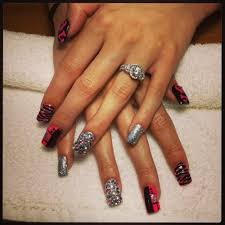 mix it up bling them out full set tammy taylor acrylic nails no