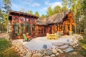country homes the lang rustic patio other by tomahawk log country