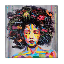 crescent art women black art african american paintings wall art canvas prints for living room