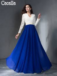 online get cheap white modest prom dresses with sleeves