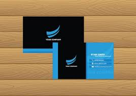 name card template blue free vector download free vector art