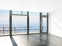 Ceiling Window by Empty Room Interior With Floor To Ceiling Windows And Scenic