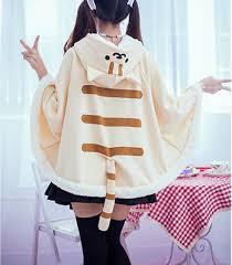 Neko Halloween Costume Kawaii Neko Atsume Kitty Cat Sweater Hoodie Cloak Cape